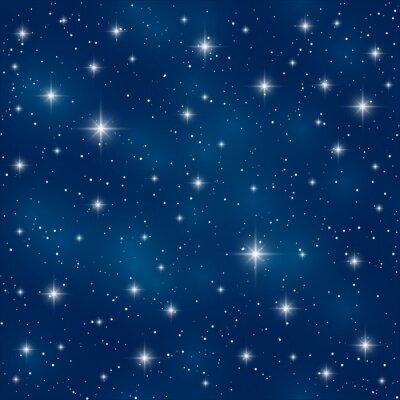 Canvas print Seamless pattern with shiny stars