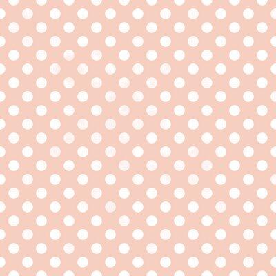 Canvas print Seamless polka dot pattern