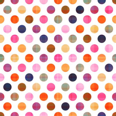 Canvas print seamless polka dots pattern