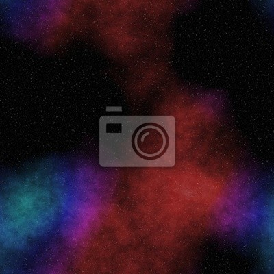 Seamless space pattern with color nebula