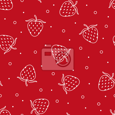 Seamless texture with strawberries