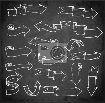 Set of arrows on blackboard