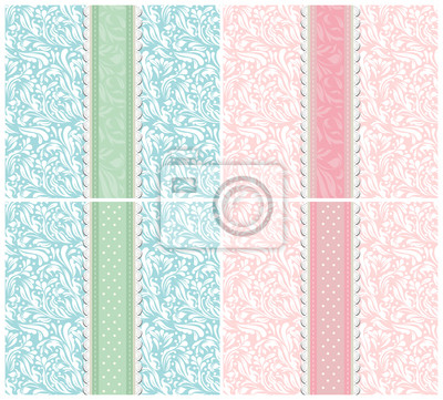 Set of background for invitation card vector