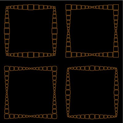 Set of  backgrounds with ornamental pattern