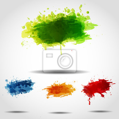 Canvas print Set of bright grunge backgrounds.