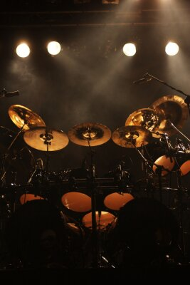 Canvas print Set of drums on stage