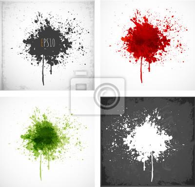Canvas print Set of four big splashes