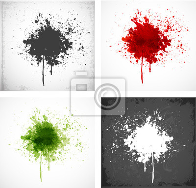 Set of four big splashes with place for your text.