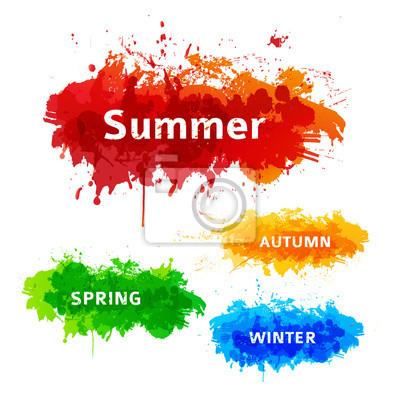 Set of season vector backgrounds