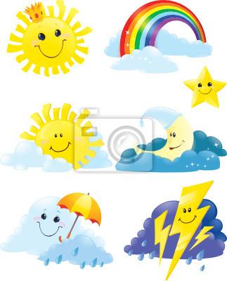 Set of weather symbols.