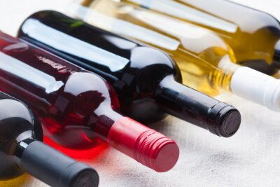 Canvas print set of wine