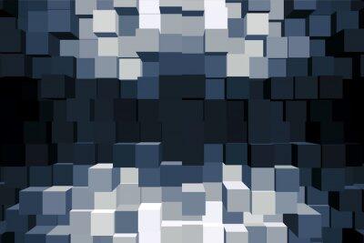 Canvas print Sfondo cubico monocromatico.