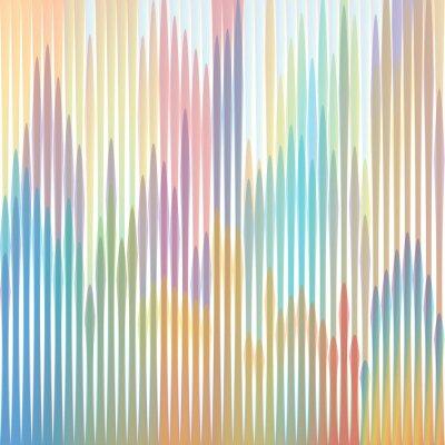 Canvas print sfondo strisce colorate