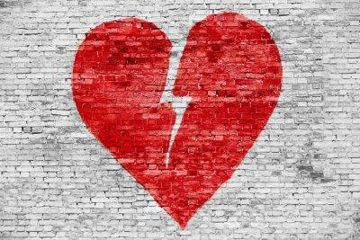 Canvas print Shape of broken heart