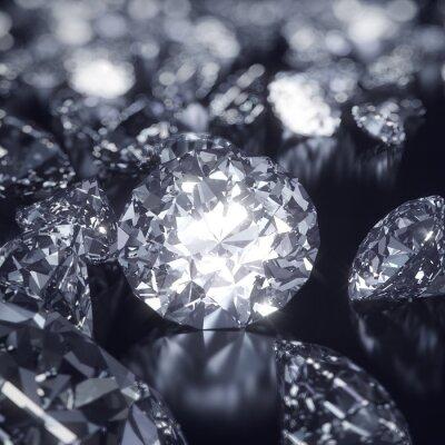Canvas print Shiny Diamonds background