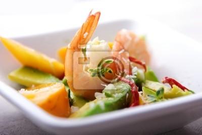 shrimp,avocado and mango salad