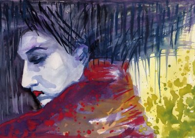 Canvas print sinister figure