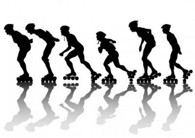 Canvas print Skates of men