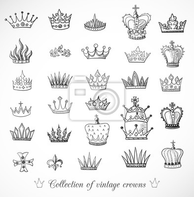 Sketch crowns collection.