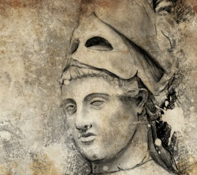 Canvas print Sketch made with digital tablet of general pericles