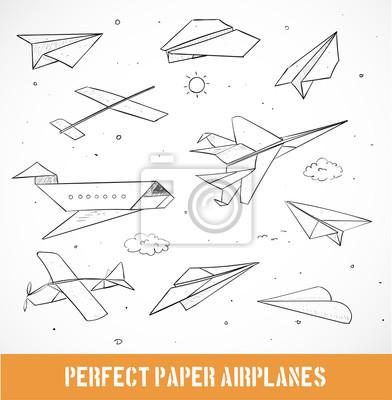 Sketch of paper planes