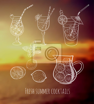 Sketches of cocktails