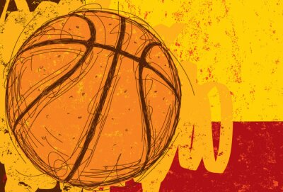 Canvas print Sketchy Basketball Background