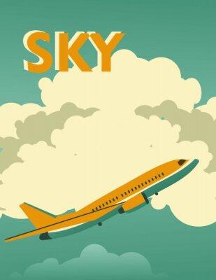 Canvas print Sky vintage poster