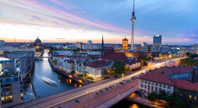 Canvas print Skyline Berlin, Blick auf den Alexanderplatz