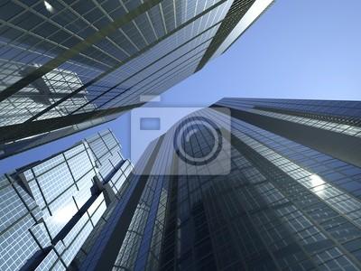 Canvas print skyscrapers 3d