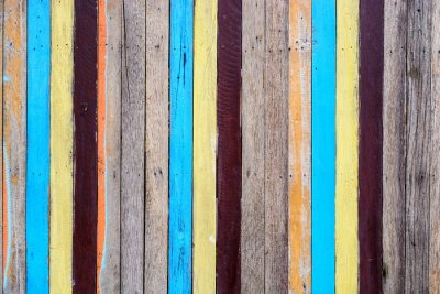 Canvas print Slat colourful
