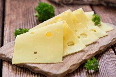 Canvas print Sliced Cheese