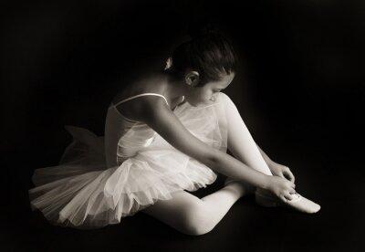 Canvas print Small ballet dancer