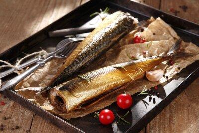 Canvas print Smoked mackerel