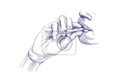Smoking marijuana joint - Hand drawing - This is original sketch