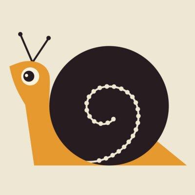 Canvas print Snail Vector Illustration