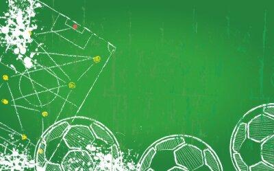 Canvas print Soccer / Football design template,free copy space, vector