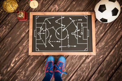 Canvas print Soccer game strategy
