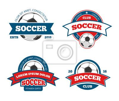Soccer logo templates football logotypes or soccer logos sport canvas print soccer logo templates football logotypes or soccer logos sport team badges identity maxwellsz