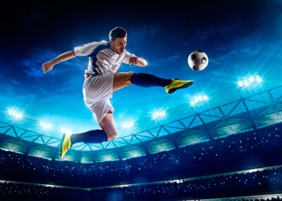 Canvas print Soccer player in action