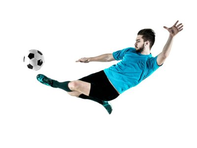 Canvas print Soccer player Man Isolated