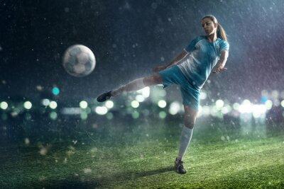Canvas print Soccer Woman