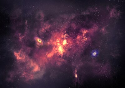 Canvas print Space background