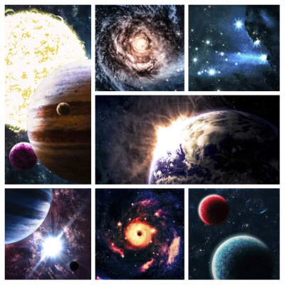 Canvas print Space collage