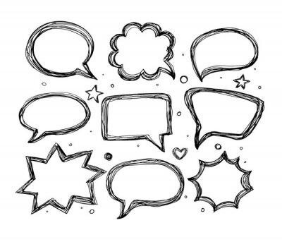 Speech bubbles on on white background. Vector illustration.