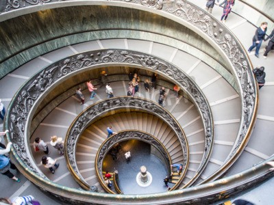 Spiral staircase of Vatican museum