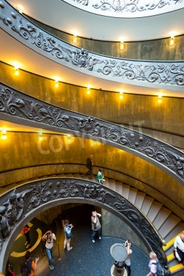 Spiral staircase with beautiful rails in Vatican Museum.