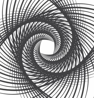 Canvas print spiral whirl abstract background black and white