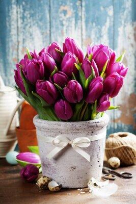 Canvas print Spring tulips