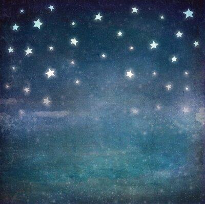 Canvas print Stars at night grunge sky ,background